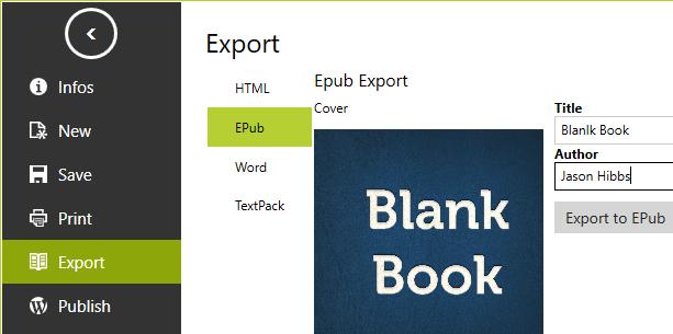 mardown to word and epub export
