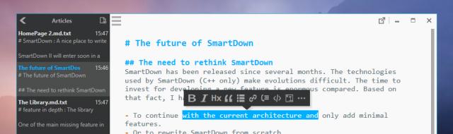 The future of SmartDown