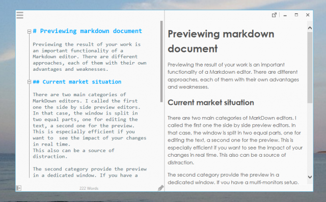 Previewing markdown documents