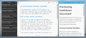Markdown preview in an independent window