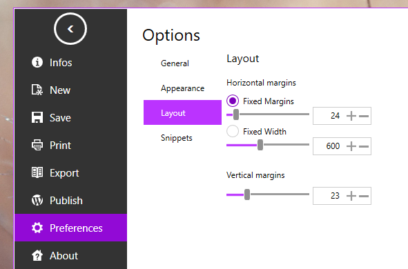 markdown layout editor