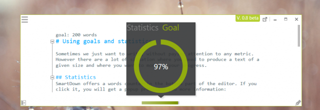 Using goals and statistics
